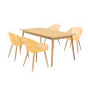 This item: Nassau Honey Yellow Five-Piece Outdoor Dining Set