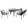 This item: Nofi Charcoal Outdoor Patio Dining Set with 8 Chairs