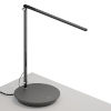 This item: Z-Bar Metallic Black LED Solo Desk Lamp with Power Base