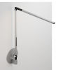 This item: Z-Bar Silver LED Solo Desk Lamp with Hardwire Wall Mount