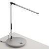 This item: Z-Bar Silver LED Solo Desk Lamp with Power Base
