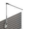 This item: Z-Bar Silver LED Solo Desk Lamp with Slatwall Mount