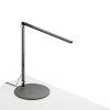 This item: Z-Bar Metallic Black LED Solo Mini Desk Lamp with Wireless Charging Qi Base
