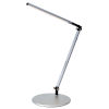 This item: Z-Bar Silver LED Solo Mini Desk Lamp with Two-Piece Desk Clamp