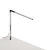 This item: Z-Bar Silver LED Solo Mini Desk Lamp with Through-Table Mount