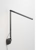 This item: Z-Bar Metallic Black Warm Light LED Solo Mini Desk Lamp with Wall Mount