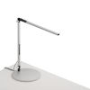 This item: Z-Bar Silver Warm Light LED Solo Mini Desk Lamp with Usb Base