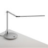 This item: Z-Bar Silver LED Desk Lamp with Power Base