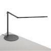 This item: Z-Bar Metallic Black Warm Light LED Desk Lamp with Wireless Charging Qi Base