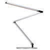 This item: Z-Bar Silver Warm Light LED Desk Lamp with Two-Piece Desk Clamp