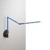 This item: Z-Bar Blue LED Mini Desk Lamp with Metallic Black Hardwire Wall Mount