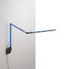 This item: Z-Bar Blue LED Mini Desk Lamp with Metallic Black Wall Mount
