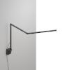 This item: Z-Bar Metallic Black LED Mini Desk Lamp with Metallic Black Wall Mount
