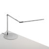 This item: Z-Bar Silver LED Slim Desk Lamp with Wireless Charging Qi Base
