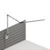 This item: Z-Bar Silver LED Slim Desk Lamp with Slatwall Mount