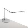 This item: Z-Bar Silver LED Slim Desk Lamp with Usb Base