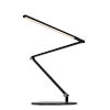 This item: Z-Bar Metallic Black Warm Light LED Slim Desk Lamp with Two-Piece Desk Clamp