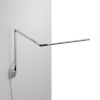 This item: Z-Bar Silver Warm Light LED Slim Desk Lamp with Wall Mount