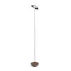 This item: Royyo Chrome and Oiled Walnut LED Floor Lamp