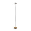 This item: Royyo Chrome and White Oak LED Floor Lamp