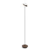 This item: Royyo Matte Black and Oiled Walnut LED Floor Lamp