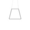 This item: Z-Bar Silver Soft Warm 26-Inch LED Square Pendant