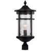 This item: Avalon Black 11-Inch One-Light Post Mount Lantern