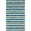 This item: Visions Ii Warm Rectangular 8 Ft. x 10 Ft. Painted Stripes Outdoor Rug