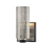 This item: Pilsen Carbide Black with Satin Nickel One-Light Wall Sconce