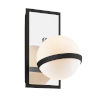 This item: Ace Carbide Black with Polished Nickel One-Light Wall Sconce