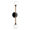 This item: Nomad Classic Bronze and Natural Two-Light Wall Sconce
