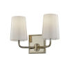This item: Simone Silver and Polished Nickel Two-Light Bath Vanity