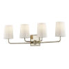 This item: Simone Silver and Polished Nickel Four-Light Bath Vanity