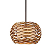 This item: Balboa Bronze Natural 28-Inch Six-Light Pendant with Linen Shade
