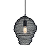This item: Wabi Sabi Black 13-Inch Pendant with Iron Mesh