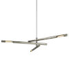 This item: Hendrix Silver and Nickel Three-Light Chandelier