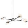 This item: Ace Carbide Black with Polished Nickel Four-Light Chandelier