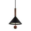 This item: Ranger Black and Natural Acacia Three-Light Pendant