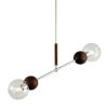 This item: Arlo Polished Stainless Steel and Natural Acacia Two-Light Pendant