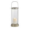 This item: Fillmore Champagne Silver Six-Inch LED Outdoor Table Lantern