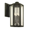 This item: Hancock Vintage Bronze Four-Light Outdoor Wall Sconce with Clear Seeded Glass