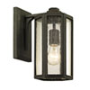 This item: Hancock Vintage Bronze One-Light Outdoor Wall Sconce with Clear Seeded Glass