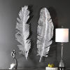 This item: Sparrow Silver 14-Inch Feather Wall Decor