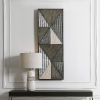 This item: Tribeca Silver and Gray 19-Inch Wall Panel
