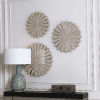 This item: Daisies Brown 23-Inch Mirrored Circular Wall Decor, Set of 3