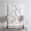 This item: Freehand Gold and White 44-Inch Metal Wall Panel