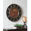 This item: Alexandre Black and Woodtone 23-Inch Wall Clock