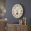 This item: Harrison Gray Bronze and White 23-Inch Wall Clock