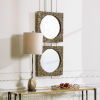 This item: The Hive Aged Gold 18-Inch Square Mirrors, Set of 2