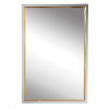This item: Locke Chrome and Gold 20-Inch Vanity Mirror